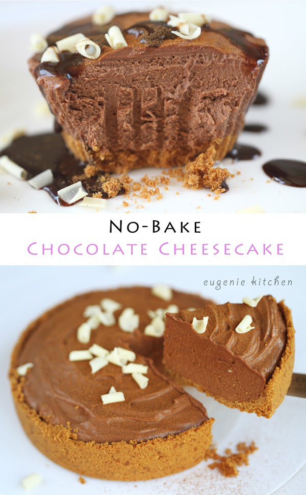 No-Bake Chocolate Cheesecake Recipe - Eugenie Kitchen
